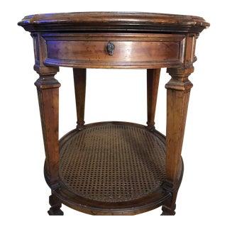Mid-Century Heritage Wood Side Table