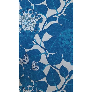 Camilla Meijer Hydrangea Garden Wallpaper in Blue