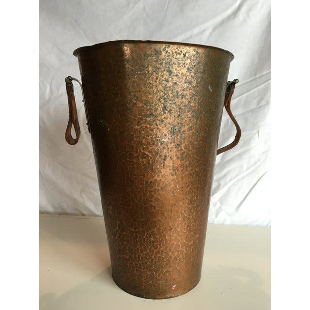 Image of Hammered Copper Trash Can