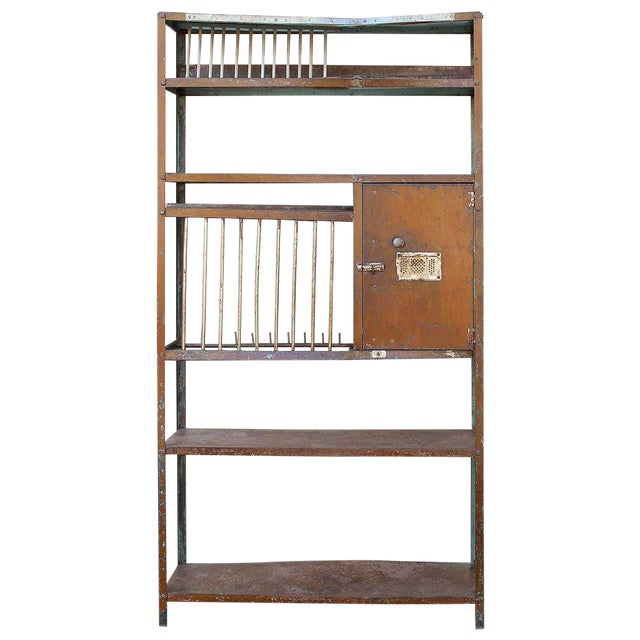 Vintage Brown Iron Rack - Image 1 of 5