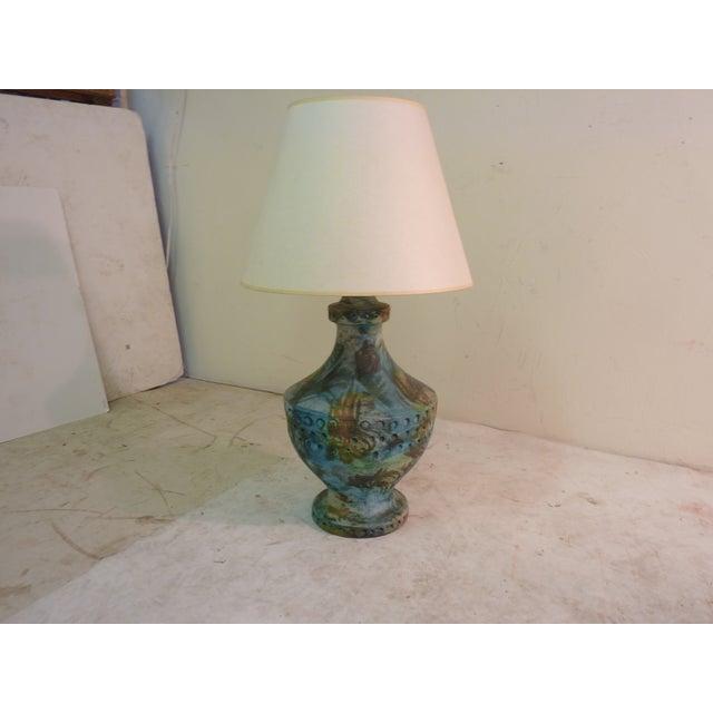 Image of Turquoise Ceramic Lamp