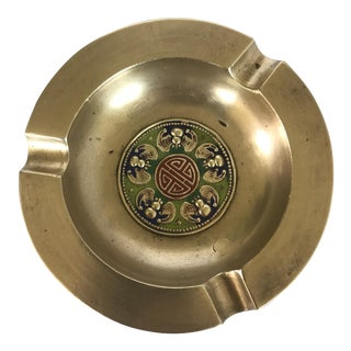 Brass Asian Cloisonné Ashtray