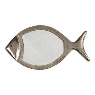 White Marble & Aluminum Fish Tray