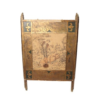 Antique Tapestry Fire Screen