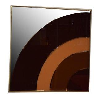 Gold Framed Modern Art Wall Mirror