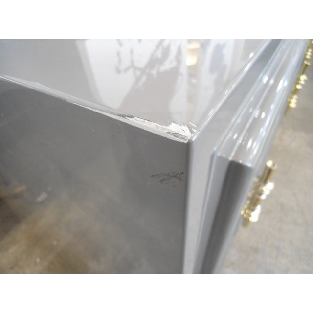 ModShop Art Deco Gray Lacquer W/ Gold Pulls Sideboard - Image 9 of 9