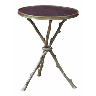 Faux Brass Branch Three Leg Side Table
