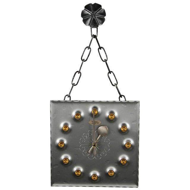 Mid-Century Brutalist Mod Wall Clock - Image 1 of 8
