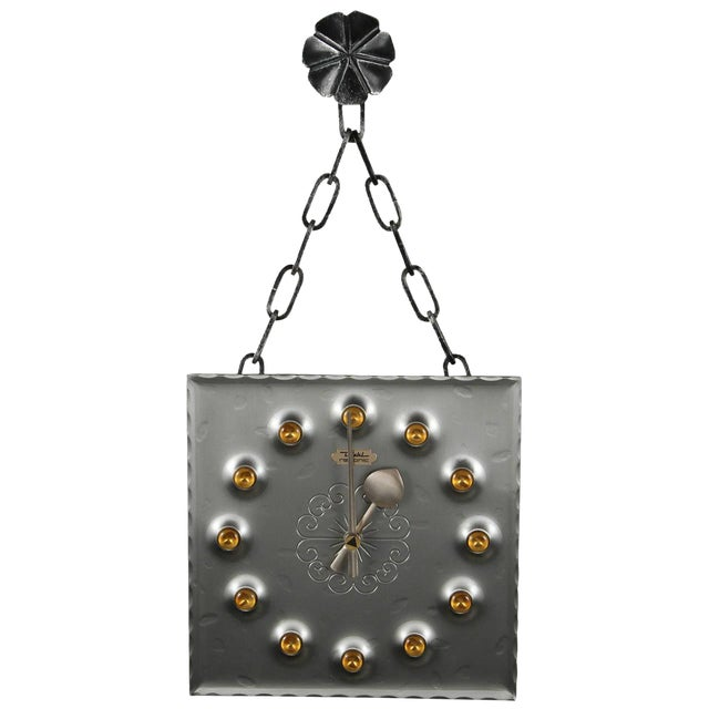 Image of Mid-Century Brutalist Mod Wall Clock