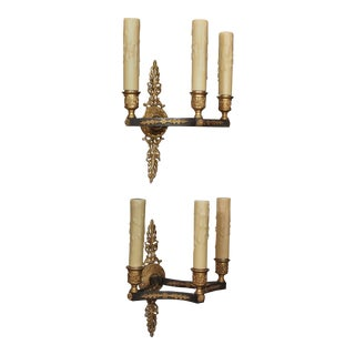 19th Century Pair Empire Style Sconces