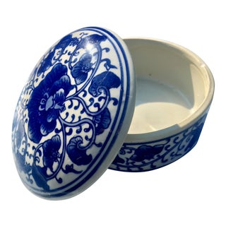 Blue & White Chinoiserie Porcelain Box