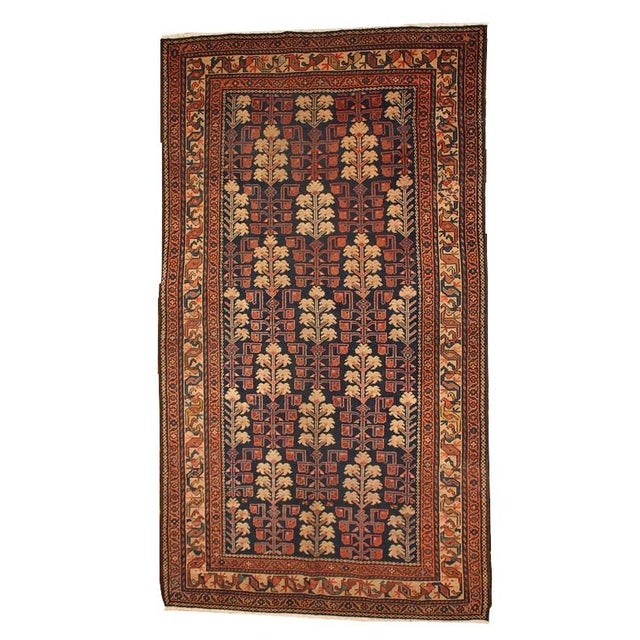 1880s Hand Made Antique Persian Kurdish Rug - 2′10″ × 5′10″ - Image 1 of 6