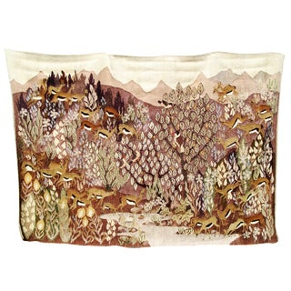 Antelope Herd Tapestry from Cape Town