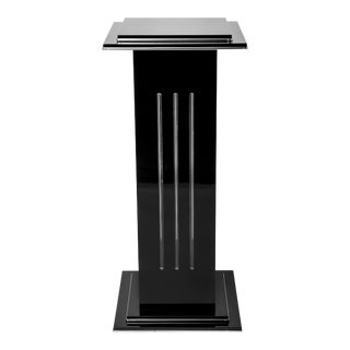 French Art Deco Pedestal With Built in Light