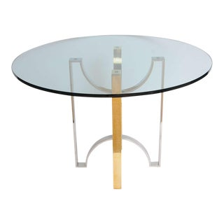 Solid Brass and Steel Ribbon Design Foyer Table
