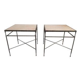 Vintage Metal Side Tables - A Pair