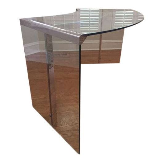 DIA Curved Glass & Chromed Steel Writing Desk - Image 1 of 10