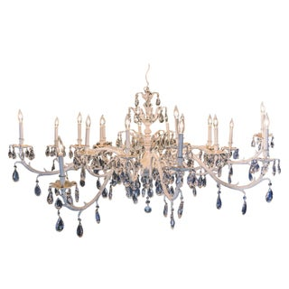 Vintage 18-Arm White Chandelier