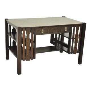 Mission Arts & Crafts Tiger Oak Writing Desk