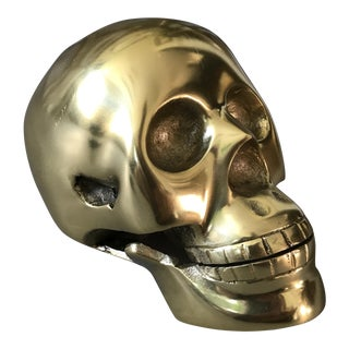 Brass Tone Decorative Skull