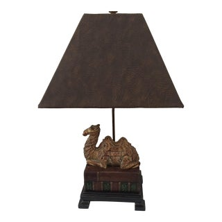 Frederick Cooper Cast Bronze Camel Base Table Lamp