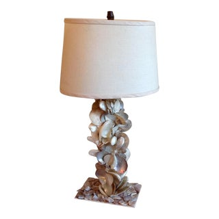 Sculptural Beach House Shell Lamp