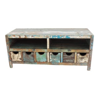 Reclaimed Wood Plasma Stand