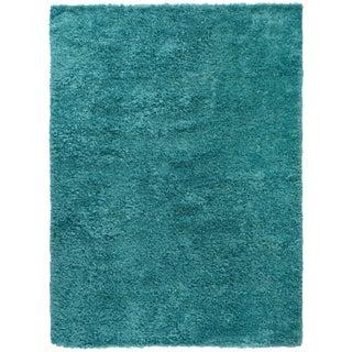 Turquoise Shag Rug - 8′8″ × 11′9″