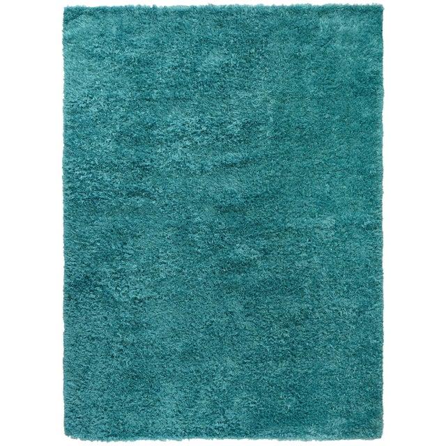Image of Turquoise Shag Rug - 8′8″ × 11′9″