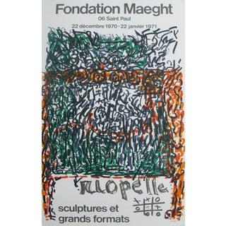 "1971 Original Vintage Riopelle ""Sculptures et Grands Formats"" Exhibition Poster"