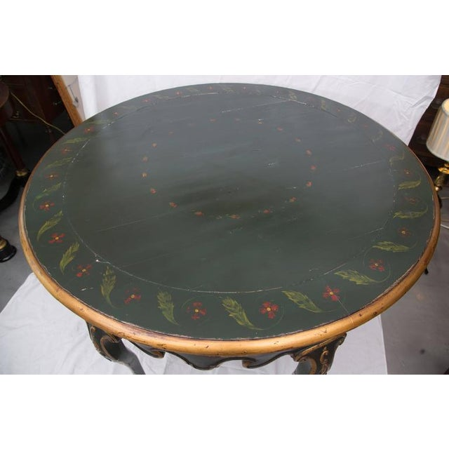 19th Century Northern Italian Painted Center Table - Image 8 of 11