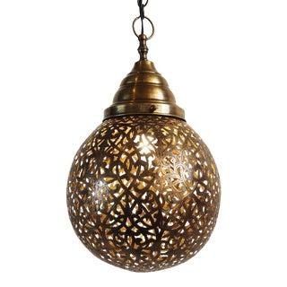 Brass Lace Work Ball Lantern