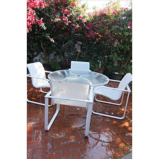Brown Jordan Outdoor Dining Umbrella Table Set - Image 3 of 5