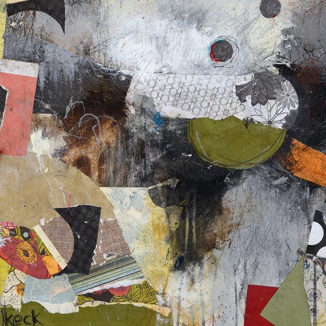 Michel Keck Original Abstract Mixed Media Painting - Image 2 of 2