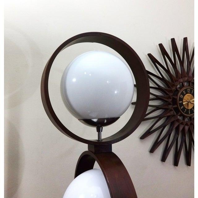 Mid Century Modern Modeline Walnut 3 Tier Lamp - Image 5 of 7