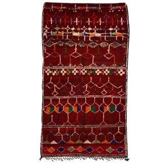 Vintage Azilal Handwoven Rug - 6′ × 11′