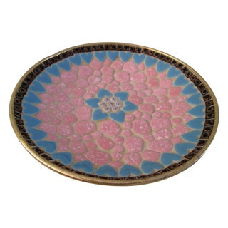 Midcentury Mosaic Tile Shallow Bowl