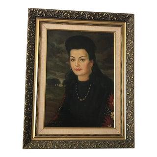 Ivan Denysenko 1940's Portrait Painting