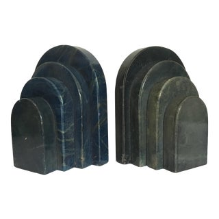 Art Deco Stone Bookends - A Pair