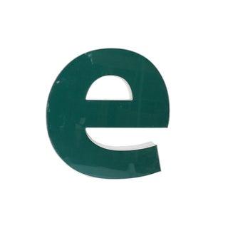 "Lower Case ""E"" Channel Letter"