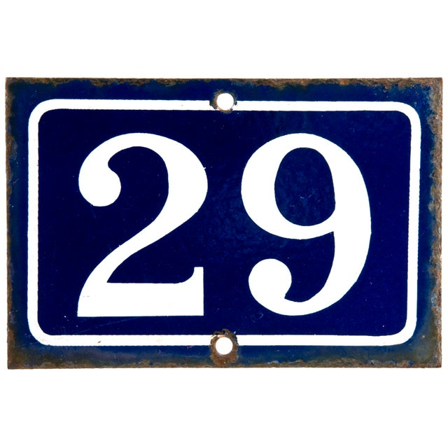 french enamel house number 29 chairish