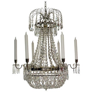 Empire 6 Nickel Octagon Chandelier
