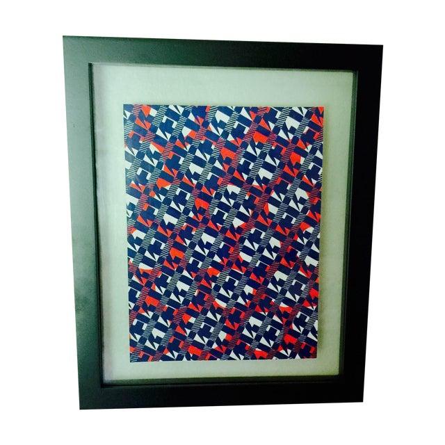 Image of Authur Litt Original Vintage Textile Painting
