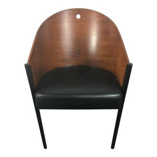 Philippe Starck Aleph Cherry & Leather Chair