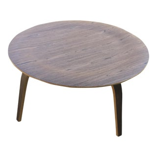 Modern Bentwood Round Coffee Table