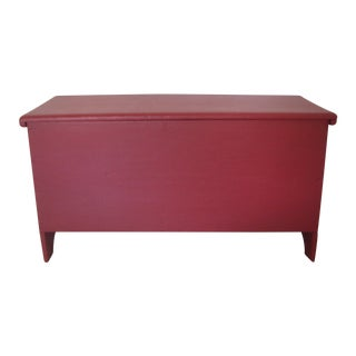 Vintage American Red Blanket Box / Chest