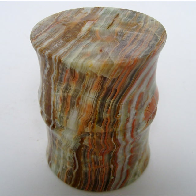 Carved Agate Pen Holder - Image 8 of 8