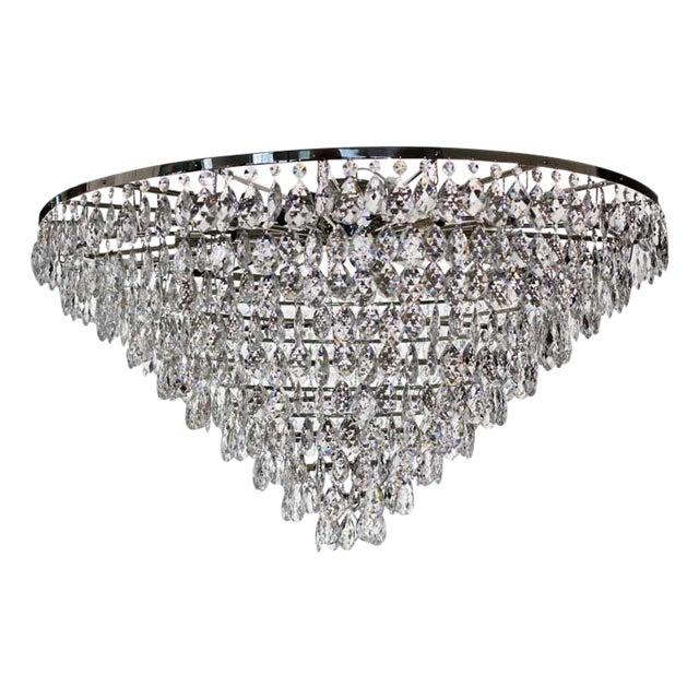 plafond nickel chandelier chairish. Black Bedroom Furniture Sets. Home Design Ideas