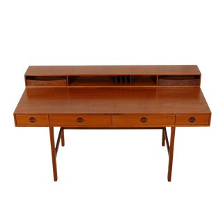 1969 Lovig Danish Modern 'Flip-Top' Teak Expanding Partner's Desk