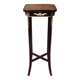 French Empire Ebonized Pedestal Table Stand